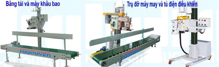 Băng tải trụ đỡ máy khâu bao công nghiệp
