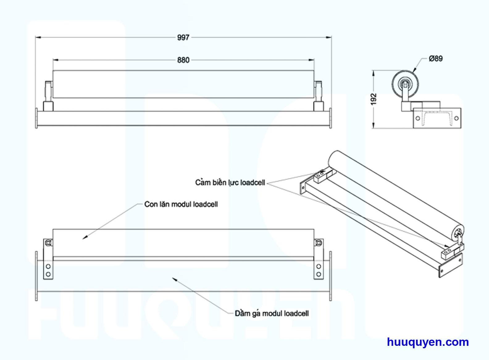 Modul cảm biến lực chuyên dùng cho cân định lượng trên băng tải